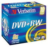 Verbatim DVD+RW 4x 4,7GB Jewel Case