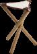 Malstuhl Holz/Leder klappbar klein